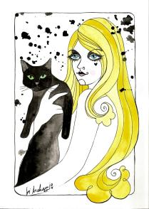 blondie and cat