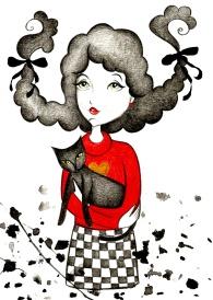 menina com gato no colo