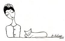 menina e o gato