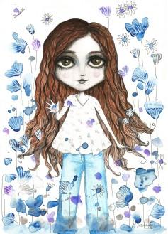 Rafaela e seus azuis