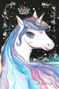 unicornio2 - fundo preto